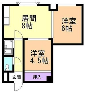 【間取り】小樽市長橋3丁目一棟マンション