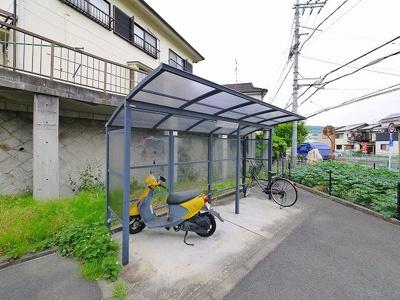 屋根付き駐輪場スペースです