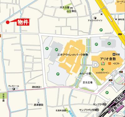 【地図】リーブルガーデン倉敷市川入第2