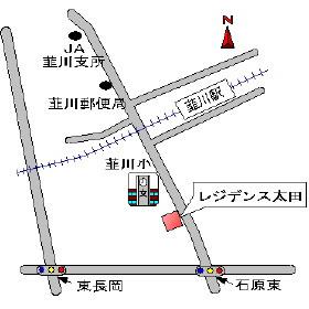 【地図】レジデンス太田 A棟