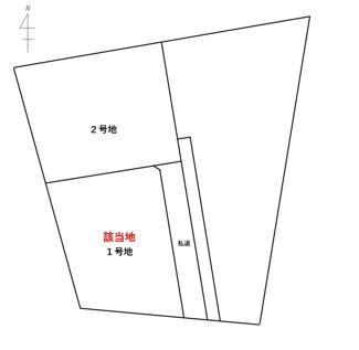 【土地図】藤岡市小林の土地(1号地)