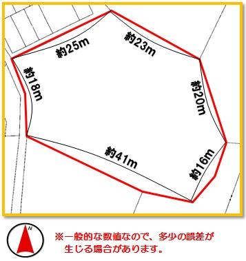 【区画図】沖縄市登川(465.54坪)