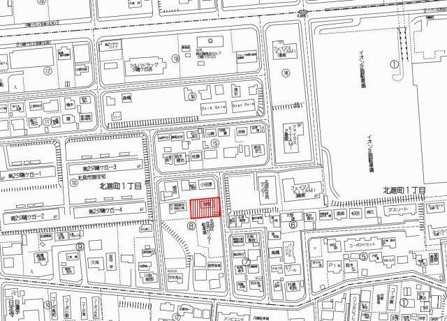 【地図】北見市北進町1丁目8番3号 中古売家