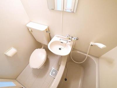 コンパクトで使いやすい洗面です。