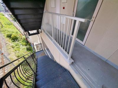 外階段の様子です