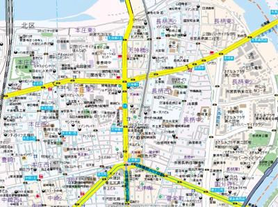【地図】KONA天神橋