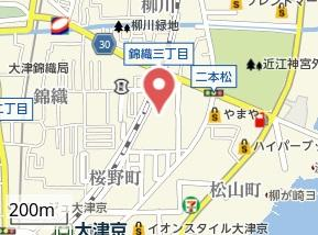【地図】エクシード西大津