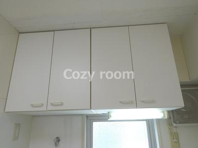 キッチン上の戸棚収納