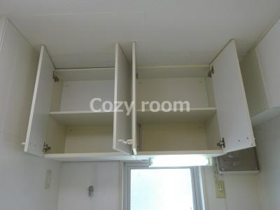 キッチン上の戸棚収納OPEN