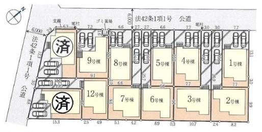 【区画図】新築戸建/川越市砂新田3丁目