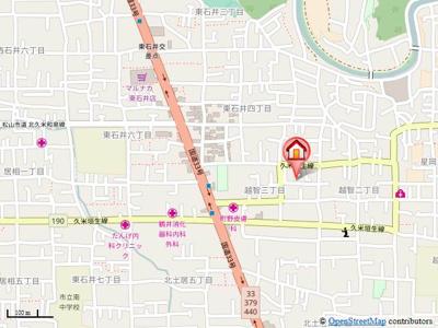 【地図】二神ハウス