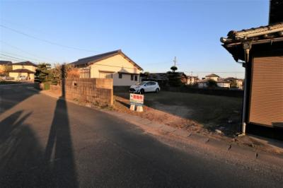【前面道路含む現地写真】阿知須中砂郷 土地50坪