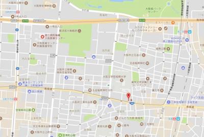 【地図】シティアーク上町台