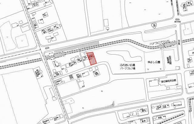 【地図】北見市留辺蘂町旭中央23番地4 中古売家