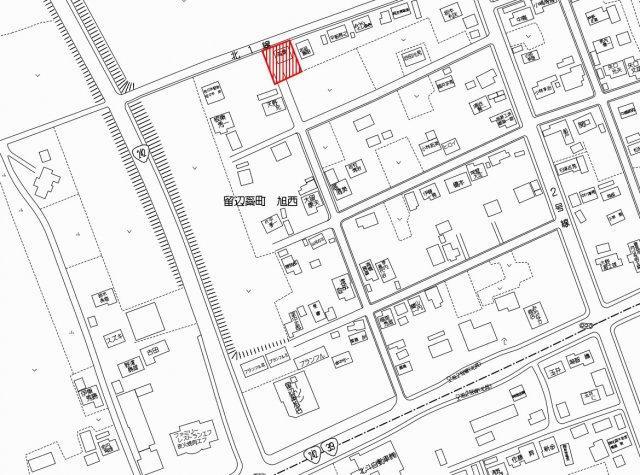 【地図】北見市留辺蘂町旭西222番地116 中古売家