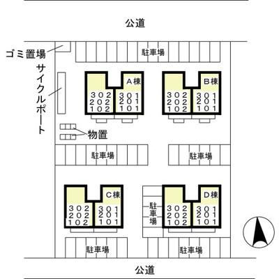 敷地内・駐車場配置図