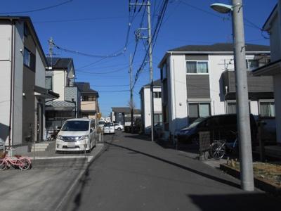 【前面道路含む現地写真】昭島市拝島町中古戸建