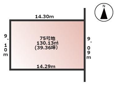 【土地図】橿原市曽我町 土地 75号地