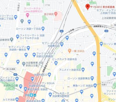 【地図】デルソルイケブクロ