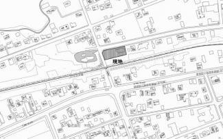 【区画図】北見市留辺蘂町上町121番地8、121番地9 中古売家