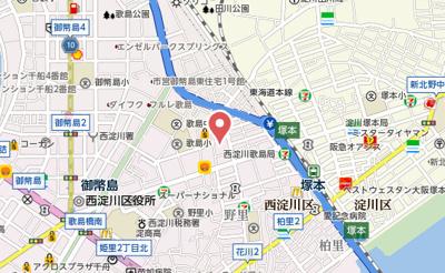 【地図】西淀マンション