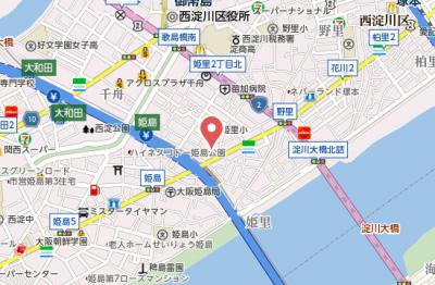 【地図】カルムハイツ