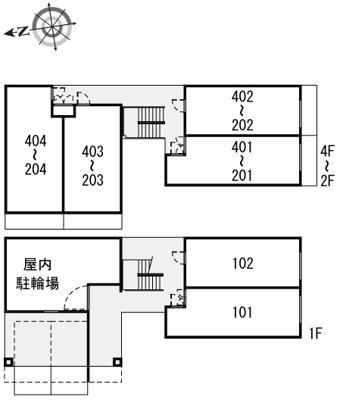 【地図】レオパレス香行苑1号