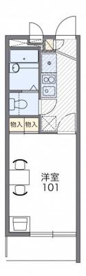 【区画図】レオパレスヴァーグ難波