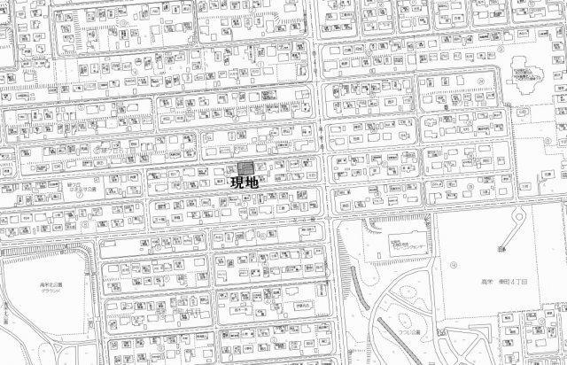 【地図】北見市緑ヶ丘6丁目2番28号 中古売家