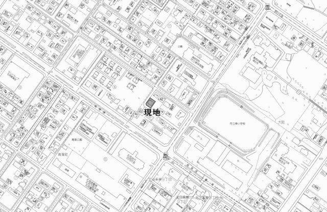 【地図】北見市高砂町1番地27 中古売家