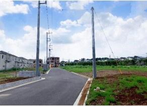 【前面道路含む現地写真】綾瀬市上土棚北3丁目 準工業地域 売地