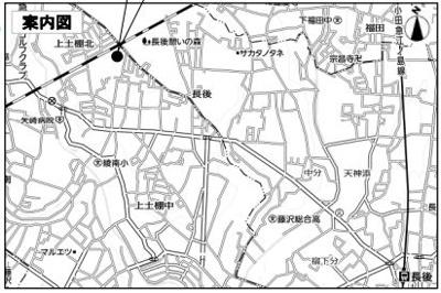 【地図】綾瀬市上土棚北3丁目 準工業地域 売地