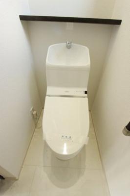 トイレもきれいです:クリーニング済♪平日も内覧出来ます♪八潮新築ナビで検索♪