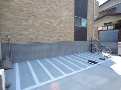 自転車置き場になります!