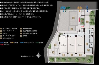 【区画図】【新築マンション】サンメゾン北千里古江台