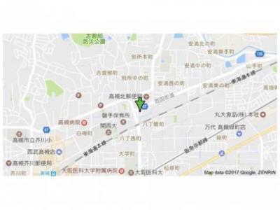 【地図】ヴィラ高槻