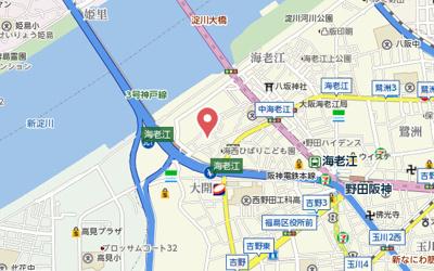 【地図】アコール海老江