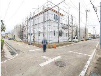 【前面道路含む現地写真】岩倉市八剱町井ノ下 5号棟