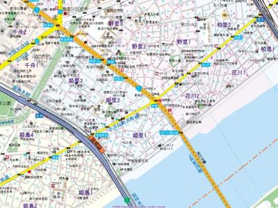 【地図】キャピタルハイツ姫里