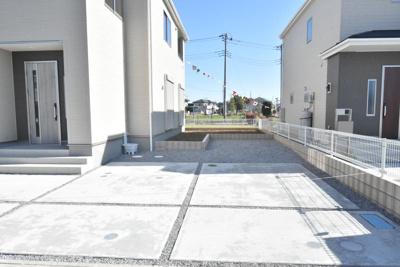 【駐車場】鴻巣市赤城(広田中央区画整理地内)新築戸建 全3棟