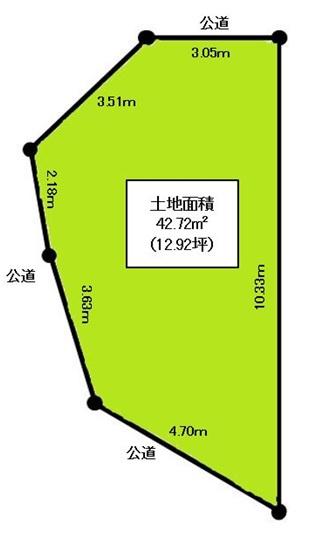 【土地図】深江南町4丁目 売土地