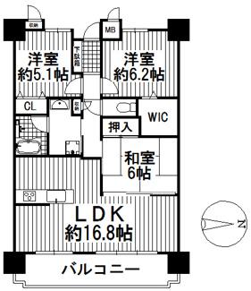 パルコート川西ラッフィナート 5階