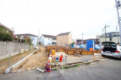 【外観】JR南武線「稲田堤」駅 新築一戸建 1号棟