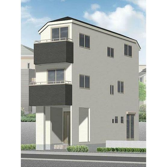 外観パースです 新築戸建 3SLDK 京浜急行線「鶴見市場」駅徒歩9分 充実の住宅設備 2駅2路線が徒歩圏に。 生活利便施設や教育施設が身近に整っています