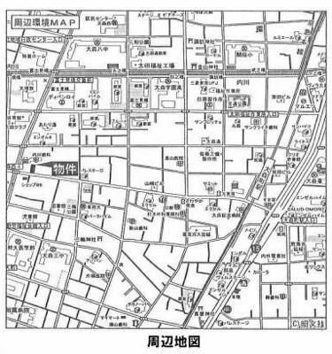 【地図】レスポワール大森