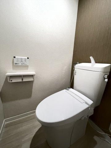 洗浄機能付きトイレ新品交換しています
