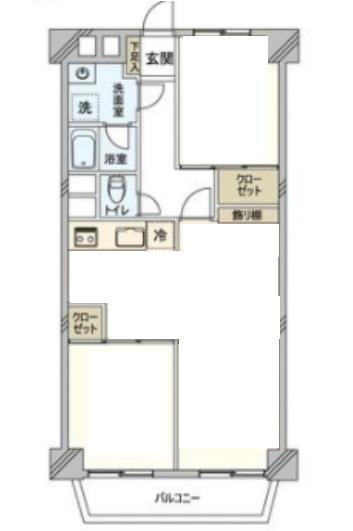 2LDK、価格1680万円、専有面積63.69m2、バルコニー面積5.4m2 内装リフォーム済みのペット飼育可能マンション