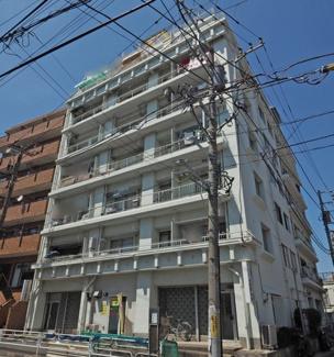 外観です 鶴見スカイマンション 1LDK 京急本線「京急鶴見」駅徒歩5分 エアコン1台付き 昭和47年5月築