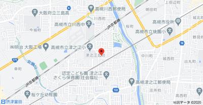 【地図】津之江北町一戸建