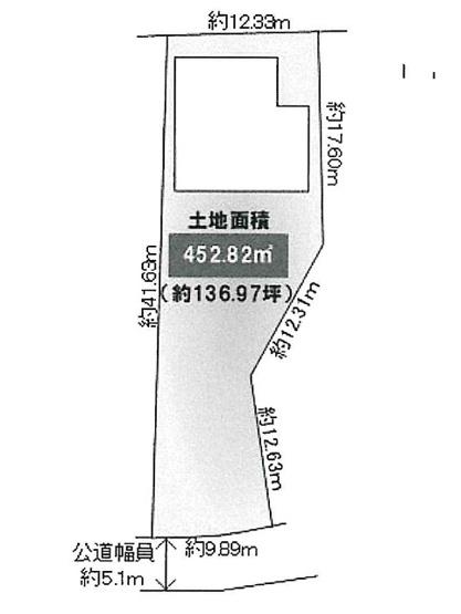【土地図】東豊中町3丁目既存住宅
